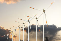 Power Windmill Stock Photography