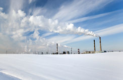 Power in the winter Stock Photography