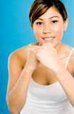 Power Woman Workout Stock Photos