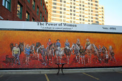 Power of women art exhibit Stock Images