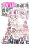 Power Word Cloud. Power Women`s Rights word cloud on a white background Stock Photo