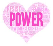 Power Word Cloud. Power Womens Rights word cloud on a white background Royalty Free Stock Photo