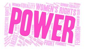 Power Word Cloud. Power Womens Rights word cloud on a white background Stock Photos