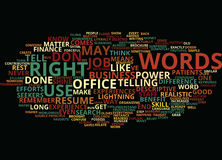 The Power Of Words How The Right Language Can Make You Shine Text Background  Word Cloud Concept Stock Images