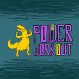 Power workout concept Stock Image