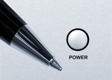 Power of writen word Royalty Free Stock Images