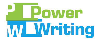 Power Writing Green Blue Abstract Stripes Stock Photos