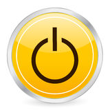 Power yellow circle icon Royalty Free Stock Photos