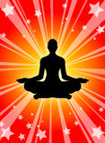 Power of Yoga. And Meditation Royalty Free Stock Photo