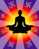 Power of Yoga. And Meditation Stock Photography
