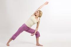 Power yoga warrior Royalty Free Stock Photos