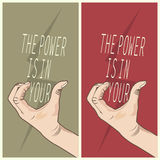 Power is in your hands. Abstract design Royalty Free Stock Photo