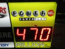 Powerball-Auszahlung stockbilder