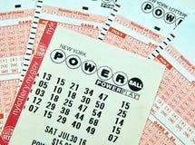 Powerball-Lottoscheine Stockfotografie