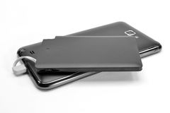 Powerbank charging mobile phone Royalty Free Stock Photo