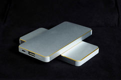 Powerbank. Portable powerbanks for charging mobile phones stock photography