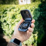 Powerbeats Pro Beats by Dr Dre unboxing package. Paris, France - Jun 17, 2019: Lateral view of Powerbeats Pro Beats by Dr Dre wireless high-performance earphones royalty free stock photo