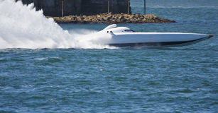 powerboat arkivbilder