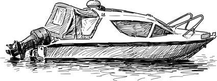 powerboat vektor illustrationer