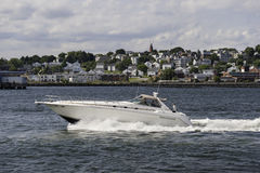 Powerboat Casco Bay Stock Images