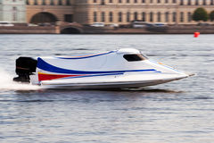 Powerboat on championship. F1H2O powerboat on championship in Saint Petersburg Royalty Free Stock Photo