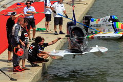 Powerboat Check. F1H20 had organized a GP in China Shenzhen on 23 & 24 October 2010, which is regulated by the Union Internationale Motonautique (UIM Stock Image