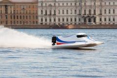 Powerboat en campeonato Foto de archivo libre de regalías