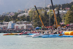 Powerboat grande P1 2010 de Yalta Prix Fotografia de Stock Royalty Free