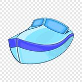 Powerboat icon in cartoon style. On a background for any web design stock illustration