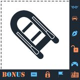 Powerboat icon flat. Powerboat. Perfect icon with bonus simple icons stock illustration