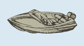 powerboat Illustrazione di vettore illustrazione di stock