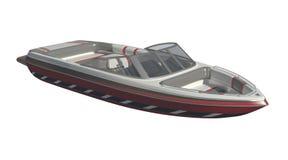 Powerboat Isolated on white background 3d illustration stock illustration