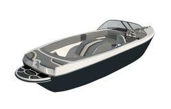 Powerboat Isolated on white background 3d illustration royalty free illustration