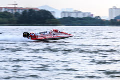 Powerboat que compete 2015 Foto de Stock Royalty Free