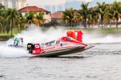 Powerboat que compite con 2015 Fotos de archivo libres de regalías