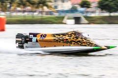 Powerboat que compite con 2015 Imagenes de archivo