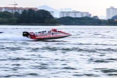 Powerboat que compite con 2015 Foto de archivo libre de regalías