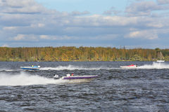 Powerboat Race Show 2012 in yacht club Stock Image