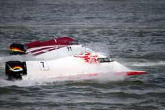 Powerboat racing Stock Image
