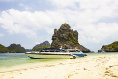 Powerboat in the sea at Mu Ko Ang Thong Stock Image