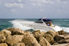 Powerboating Stockfoto
