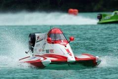 Powerboating F1000 European Championship. Folloni. Powerboating F1000 European Championship: race circuit in the Lake of Barcis, Pordenone (Italy) Italy's driver royalty free stock photo