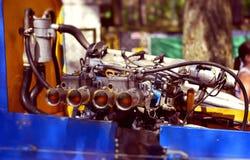 Powerboatmotor het testen Stock Fotografie