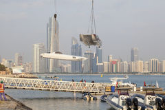 Powerboats in Abu Dhabi, UAE Royalty Free Stock Images