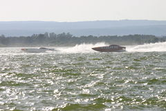 Powerboats in actie Royalty-vrije Stock Afbeelding