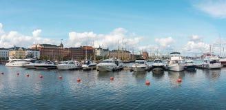 Powerboats moored in the harbor, Helsinki, Finland. Powerboats moored in the harbor of the Northern Port, Helsinki, Finland Royalty Free Stock Photography
