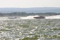 Powerboats nell'azione Immagine Stock Libera da Diritti