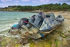 Powerboatschipbreuk Stock Foto's