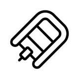 Powerboatsymbolslägenhet Illustration isolerat vektorteckensymbol stock illustrationer