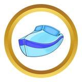 Powerboatvektorsymbol royaltyfri illustrationer